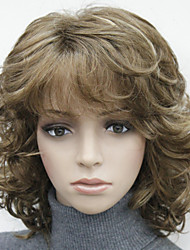 "Fashion short 14"" curly women's synthetic women's full wig"