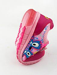 Красный-Для девочек-Для прогулок-Тюль-На плоской подошве-Туфли Мери-Джейн-На плокой подошве