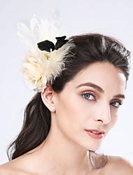 Women's Feather / Fabric / Net Headpiece-Wedding / Special Occasion / Casual Fascinators 1 Piece