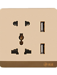 Five Hole Wall Usb Socket Outlet