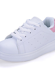 Unisex Flats Spring / Fall Round Toe PU Casual Flat Heel Others / Lace-up Pink / White / Black and White Others