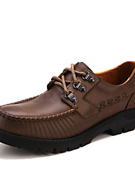 Men's Oxfords Spring / Fall / Winter Comfort Cowhide Office & Career / Party & Evening / Casual Flat Heel Split Joint