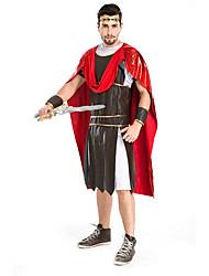 Costumes de Cosplay / Costume de Soirée Soldat/Guerrier Fête / Célébration Déguisement Halloween Rouge / Gris Couleur Pleine