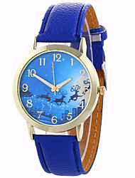 Women's Fashion Analog Stripe Ladies' Christmas Snowflake Display Strap Bohemia Quartz Wrist Watch