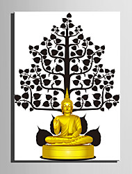 E-HOME® Stretched Canvas Art Theme of Buddha Decoration Painting  One Pcs