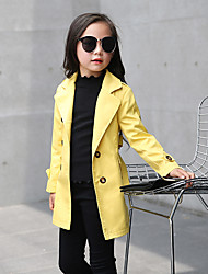 Girl's Casual/Daily Solid Jacket & CoatCotton Spring / Fall Black / Green / Pink / Red / Yellow