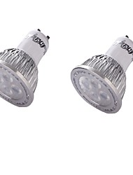 4 GU10 LED-spotlampen MR16 4 SMD 3030 350 lm Warm wit Decoratief AC 110-130 / AC 85-265 / AC 220-240 / AC 100-240 V 2 stuks
