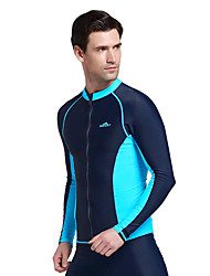Spring Autumn Men Swimwear Long Sleeve Swim Shirt Top for Rashguard Diving Snorkeling Bathing Wetsuit