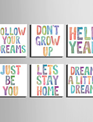 E-HOME® Stretched Canvas Art Color English Word Decoration Painting  One Pcs