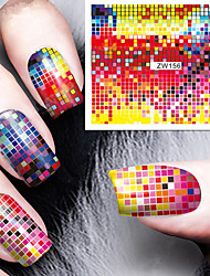 Fashion Printing Pattern Color Focus Water Transfer Printing Nail Stickers