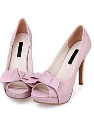 Зеленый / Розовый / Бежевый-Женский-На каждый день-Овчина-На шпильке-На платформе-Обувь на каблуках