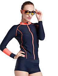 Women Long Sleeve Swimwear Rash Guard Shirt Diving Swimming Snorkeling Surfing Tops Wetsuit