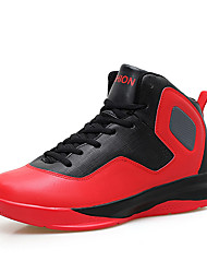 Men's Athletic Shoes Spring / Fall Round Toe PU Athletic Flat Heel Others / Lace-up Yellow / Red / White Basketball