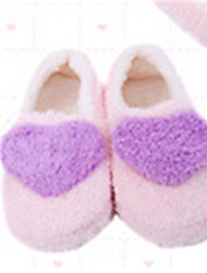 Women's Slippers & Flip-Flops Comfort Fleece Winter Casual Comfort Flat Heel Purple Blue Blushing Pink Flat