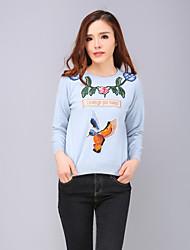 Yang x-m ocasional de las mujeres / chinesca diaria bordado jersey regulares