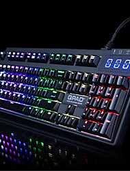 QPAD MK-90 RGB LED Backlit Mechanical Keyboard For Game Black
