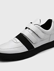 Men's Sneakers Spring / Fall Comfort Fabric Casual Flat Heel Magic Tape Black / Blue Sneaker