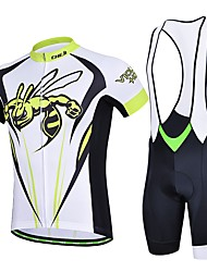 Sports Cycling Jersey with Bib Shorts Women's / Men's / Unisex Short Sleeve BikeBreathable / Quick Dry / Wearable / Compression / 3D Pad