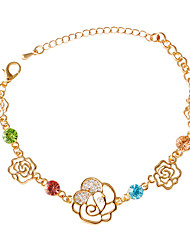 Bracelet/Chain Bracelets Alloy / Rhinestone Flower Fashionable / Inspirational Daily / Casual Jewelry Gift Gold