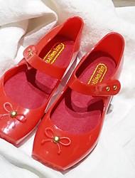 Mädchen-Sandalen-Lässig-PVC-Flacher Absatz-Quadratische Zehe / Sandalen-Schwarz / Grün / Rot