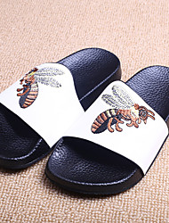Unisex Slippers & Flip-Flops Summer Slippers Microfibre Casual Flat Heel Animal Print Black White Others