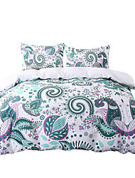 BeddingOutlet Green Bedding Set Floral Mandala Duvet Cover White 200 Thread Count Soft Bedclothes Multi Sizes Bed Set