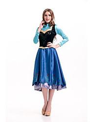 Cosplay Kostuums / Feestkostuum Prinses Festival/Feestdagen Halloween Kostuums Blauw Effen Kleding / Shawl / Meer Accessoires Halloween