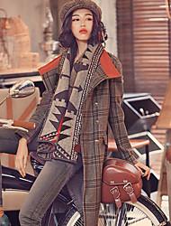 Aporia.As Women's Shirt Collar Long Sleeve Wool & Blends Gray-MZ07014