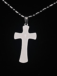 Stainless Steel Bible Text Pendant Cross Necklace Prayers Necklaces Men Jewelry Silver