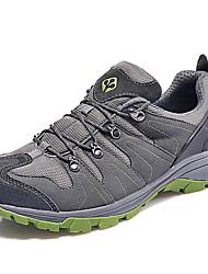 Синий / Серый-Мужской-Для прогулок / Для занятий спортом-Тюль-На плоской подошве-Удобная обувь-Спортивная обувь