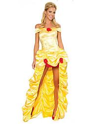 Costumes de Cosplay Princesse Fête / Célébration Déguisement d'Halloween Couleur Pleine Robe Plus d'accessoires Halloween Térylène