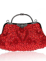 L.west Women Elegant High-grade Lily Handmade Beaded Evening Bag