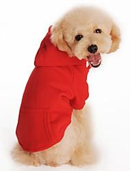 Katzen / Hunde Kostüme / Mäntel / Kapuzenshirts Rot / Orange / Schwarz / Grau Hundekleidung Sommer einfarbig / Amerikaner / USA / Britsh