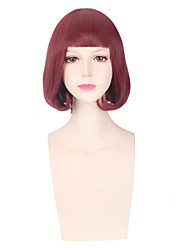 Red Color Women Cosplay Synthetic Wigs Glueless Fashion Wigs