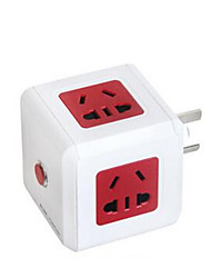 Red Vertical Intelligent Multi-Function Jack Socket