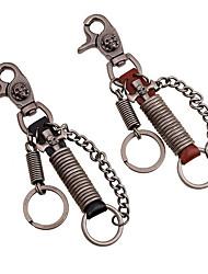 Key Chain / Key Chain Brown / Black Metal / PU Leather