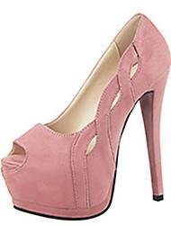 Women's Heels Summer Heels PU Casual Stiletto Heel Others Black / Yellow / Pink / Red / Fuchsia Others