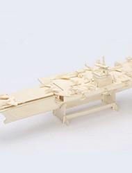 Quebra-cabeças Quebra-Cabeças 3D / Quebra-Cabeças de Madeira Blocos de construção DIY Brinquedos Porta-aviões Madeira BegeModelo e Blocos