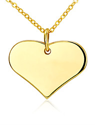Necklace Pendant Necklaces Jewelry Gold Plated Wedding / Party / Daily Yellow Gold Fashionable 1pc Gift