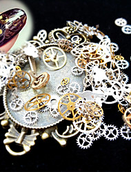 1 Box 3D Nail Art Metal Decoration Ultra-thin Time Wheel Steam DIY Punk Style