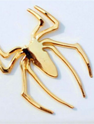 Metal Spider Sticker 3D Stereo Spider Logo Head Post