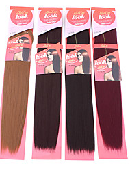 1PC New Look Yaki Wave 20 Straight Synthetic Hair Extension Hair Weave Various Colors