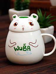 1PC Novelty Gift Cartoon Cute Of Little Bear Two-Piece  Cup Covers  Ceramic Cup (Pattern is  Random)