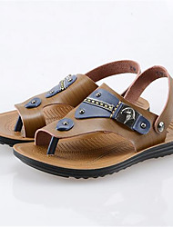 Men's Slippers & Flip-Flops Summer Sandals Suede Casual Flat Heel Others Brown Others