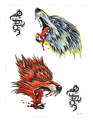 1pc Temporary Tattoo Howl Wolf Head Rune Sexy Product Design Women Men Body Art Waterproof Tattoo Sticker HB-330