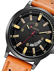 CURREN Мужской Спортивные часы Армейские часы Нарядные часы Модные часы Наручные часы Календарь Кварцевый Японский кварц Кожа Группа