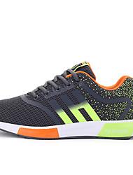 Atlético primavera sapatos masculinos / cair tecido conforto casual calcanhar plana preto / azul / amarelo / vermelho sneaker / cinza