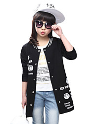 Girl's Sports Solid Suit & BlazerCotton / Polyester Spring / Fall Black / Pink / Gray