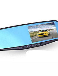 Blue Mirror 4.3 Inch Wide Angle 170 Degree 1080P Parking Monitoring Vehicle Recorder