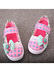 Розовый-Для девочек-Для прогулок-Полотно-На плоской подошве-Туфли Мери-Джейн-Сандалии